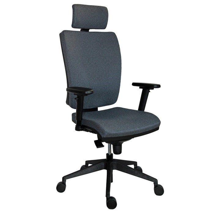 5f7ed68c04697 Kancelárska pracovná stolička 1580 GALA Plus PDH ECONOMY - sivá ...
