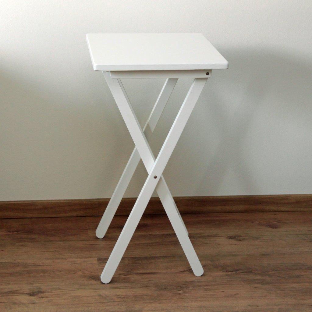 5dbedf4d3 Skladací stolík drevený, biely Kancelársky nábytok